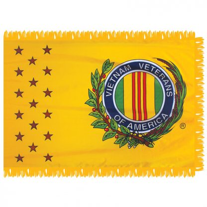 438605 Vietnam Veterans Of America 3' x 5' Indoor Nylon Flag With Pole Sleeve And Fringe-0