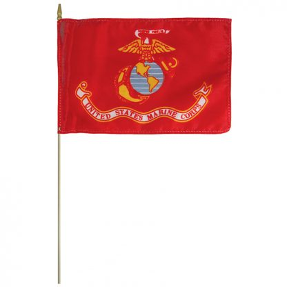 """AFF-204 Marine Corps 12"""" x 18"""" Staff-mounted Polyester -0"""
