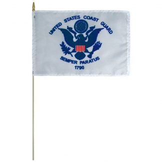 "AFF-205 Coast Guard 12"" x 18"" Staff-mounted Polyester -0"