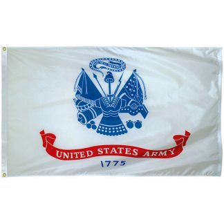 AFF-401-P Army 2' x 3' Economy Polyester Flag with Heading and Grommets -0