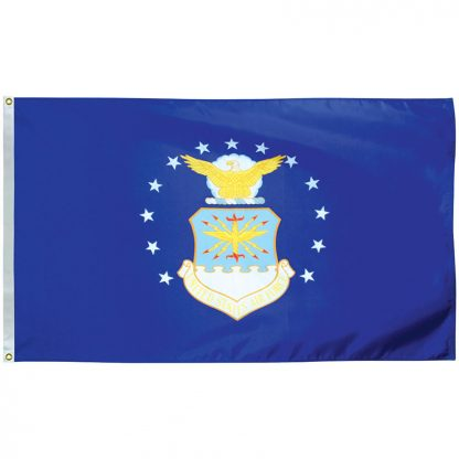 AFF-403-P Air Force 2' x 3' Economy Polyester Flag with Heading and Grommets -0