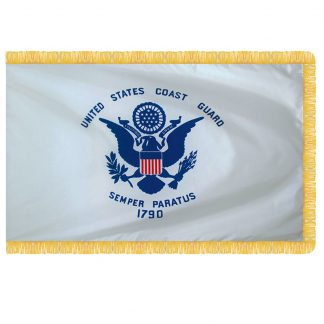 AFF-605 Coast Guard 3' x 5' Nylon With Pole Sleeve And Fringe -0