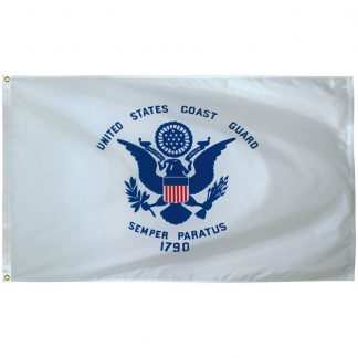 AFF-705 Coast Guard 4' x 6' Outdoor Nylon with Heading and Grommets-0