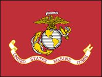 "ECM-104 Marine Corps 4'' x 6"" Staff-mounted Muslin -0"