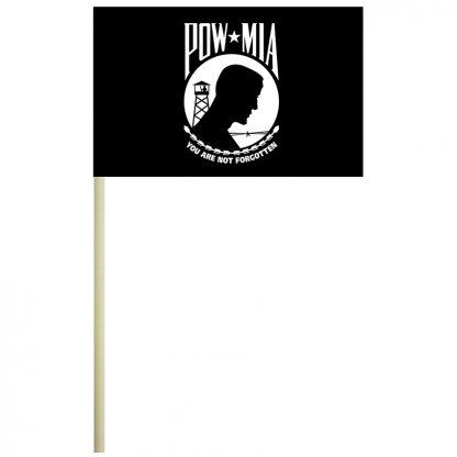 """ECM-46-POW POW-MIA 4'' x 6"""" Mounted Cotton Flag-0"""