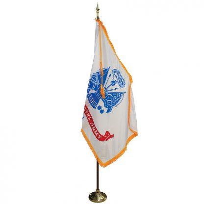 MPS-101 7' Pole / 3' x 5' Flag - Army Indoor Presentation Set-0