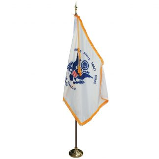 MPS-105 7' Pole / 3' x 5' Flag- Coast Guard Indoor Presentation Set -0