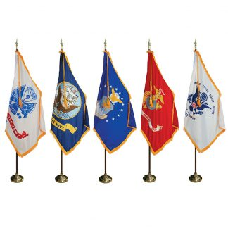 MPS-200 7' Pole & 3' x 5' Flag - Military Indoor Presentation Set -0