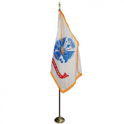 MPS-201 8' Pole/ 3' x 5' Flag- Army Indoor Presentation Set -0