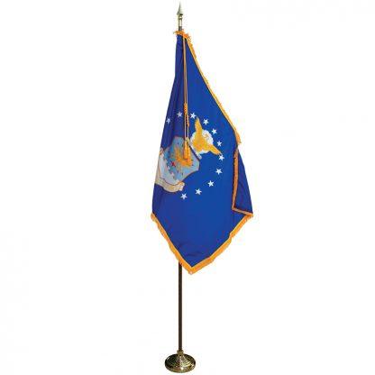 MPS-203 8' Pole/ 3' x 5' Flag- Air Force Indoor Presentation Set -0