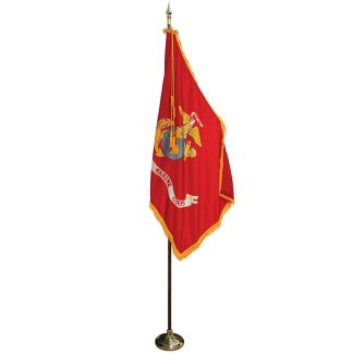 MPS-204 8' Pole / 3' x 5' Flag- Marine Corps Indoor Presentation Set -0