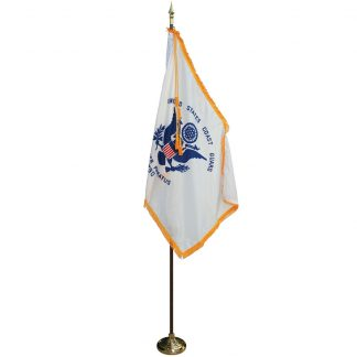 MPS-205 8' Pole/ 3x5' Flag- Coast Guard Indoor Presentation Set -0