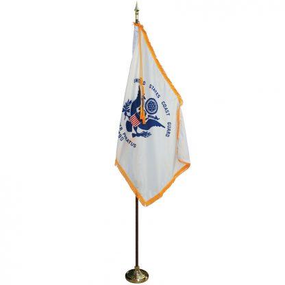 MPS-205 8' Pole/ 3x5' Flag- Coast Guard Indoor Presentation Set -0