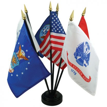 "MS-101 4"" x 6"" Armed Forces Desk Set-0"