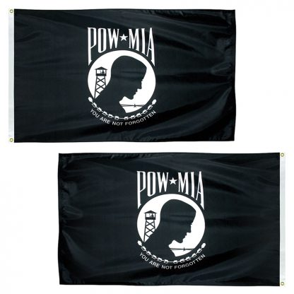 PWD-23-2P POW-MIA 2' x 3' Double Sided 2-ply Polyester Flag -0