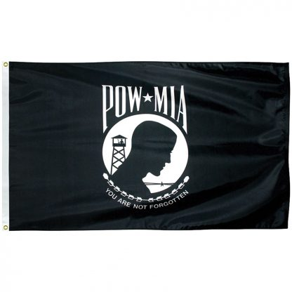 "PWS-1218 POW-MIA 12'' x 18"" Outdoor Nylon Flag with Heading and Grommets-0"