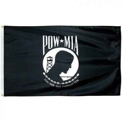 PWS-58 POW-MIA 5' x 8' Outdoor Nylon Flag with Heading and Grommets-0