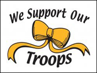 929037 3' x 5' Support Our Troops Nylon Flag -0