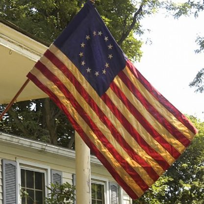 BRB-11 2.5' x 4' Specialty Cotton Betsy Ross Banner With Sleeve-0