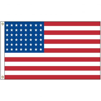 HF-309 Old Glory 48 Star 3' x 5' Cotton Custom Sewn Flag-0