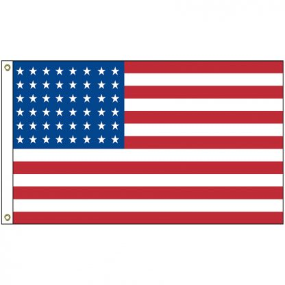 HF-435 Old Glory 48 Star 3' x 5' Printed Nylon Outdoor Flag-0