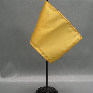 "NMF-46 AMBER Nylon 4"" x 6"" Mounted Solid Color Stick Flag - Amber-0"