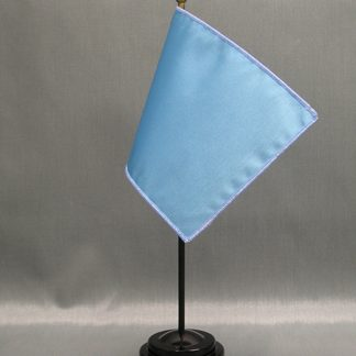 "NMF-46 BLUEBIRD Nylon 4"" x 6"" Mounted Solid Color Stick Flag - Bluebird-0"