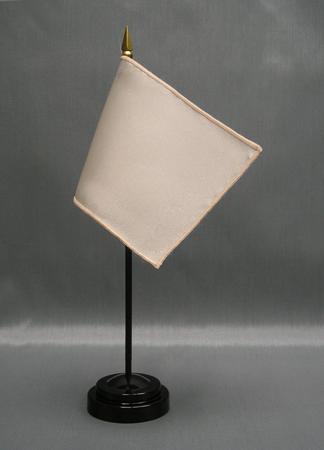 "NMF-46 BONE Nylon 4"" x 6"" Mounted Solid Color Stick Flag - Bone-0"