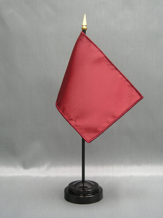 """NMF-46 BRICKRED Nylon 4"""" x 6"""" Mounted Solid Color Stick Flag - Brick Red-0"""