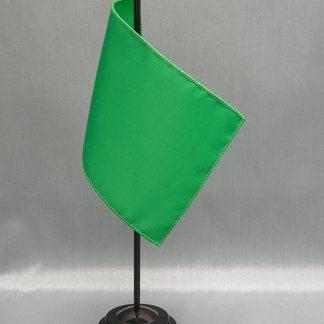 "NMF-46 BRIGHTGREE Nylon 4"" x 6"" Mounted Solid Color Stick Flag - Bright Green-0"