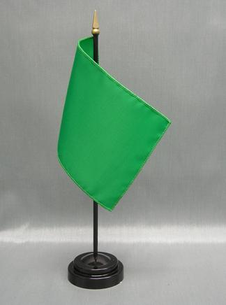 "NMF-46 BRIGHTGREE Nylon 4"" x 6"" Mounted Solid Color Stick Flag - Bright Green-0"