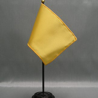"NMF-46 BUFF Nylon 4"" x 6"" Mounted Solid Color Stick Flag - Buff-0"