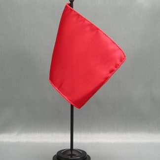 "NMF-46 CANADARED Nylon 4"" x 6"" Mounted Solid Color Stick Flag - Canada Red-0"