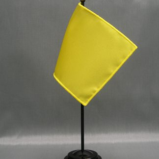 "NMF-46 DAFFODIL Nylon 4"" x 6"" Mounted Solid Color Stick Flag - Daffodil-0"