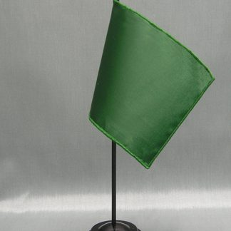 "NMF-46 DARTGREEN Nylon 4"" x 6"" Mounted Solid Color Stick Flag - Dart Green-0"