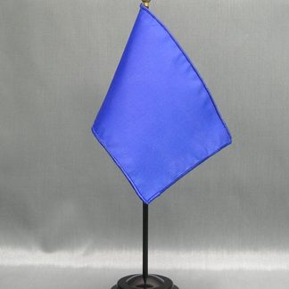 "NMF-46 DEEPBLUE Nylon 4"" x 6"" Mounted Solid Color Stick Flag - Deep Blue-0"