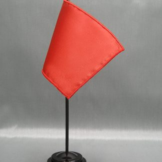 "NMF-46 FLAME Nylon 4"" x 6"" Mounted Solid Color Stick Flag - Flame-0"