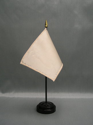 "NMF-46 FLESH Nylon 4"" x 6"" Mounted Solid Color Stick Flag - Flesh-0"