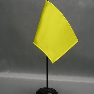 "NMF-46 FMYELLOW Nylon 4"" x 6"" Mounted Solid Color Stick Flag - FM Yellow-0"