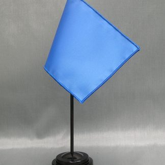 "NMF-46 FRENCHBLUE Nylon 4"" x 6"" Mounted Solid Color Stick Flag - French Blue-0"