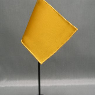 "NMF-46 GOLD Nylon 4"" x 6"" Mounted Solid Color Stick Flag - Gold-0"