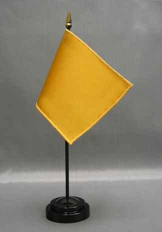 """NMF-46 GOLD Nylon 4"""" x 6"""" Mounted Solid Color Stick Flag - Gold-0"""