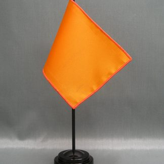 "NMF-46 GOLDENPOPP Nylon 4"" x 6"" Mounted Solid Color Stick Flag - Golden Poppy-0"