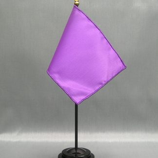 "NMF-46 LAVENDER Nylon 4"" x 6"" Mounted Solid Color Stick Flag - Lavender-0"