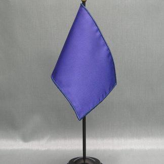 "NMF-46 LEGIONBLUE Nylon 4"" x 6"" Mounted Solid Color Stick Flag - Legion Blue-0"