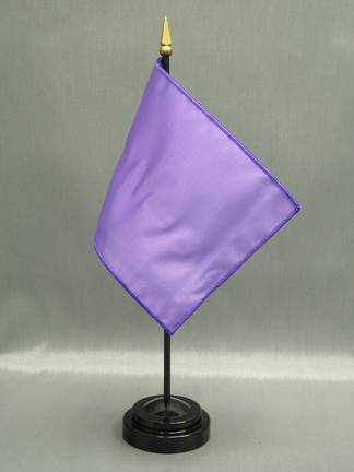 """NMF-46 LILAC Nylon 4"""" x 6"""" Mounted Solid Color Stick Flag - Lilac-0"""