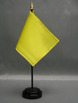 "NMF-46 LIME Nylon 4"" x 6"" Mounted Solid Color Stick Flag - Lime-0"