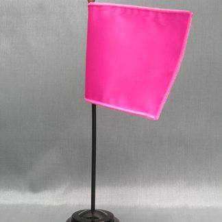"NMF-46 MAGENTA Nylon Nylon 4"" x 6"" Mounted Solid Color Stick Flag - Magenta-0"