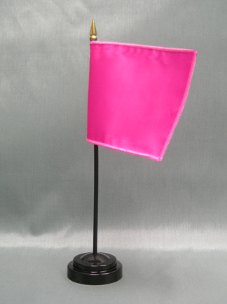 "NMF-46 MAGENTA Nylon Nylon 4"" x 6"" Mounted Solid Color Stick Flag - Magenta-0"