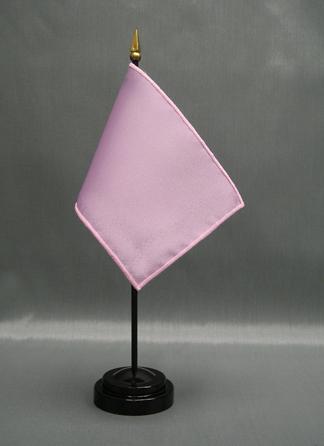 "NMF-46 MAUVE Nylon 4"" x 6"" Mounted Solid Color Stick Flag - Mauve-0"